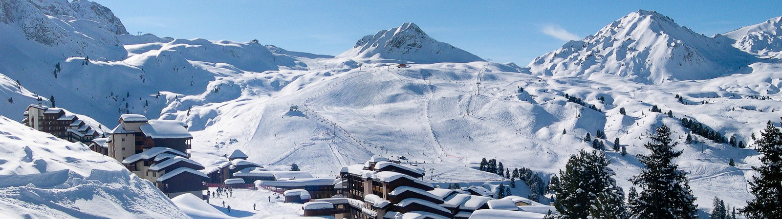 Winter landschap La Plagne